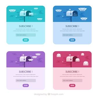 Postfach abonnieren design
