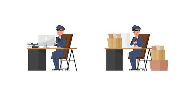 Postfrau charakter design
