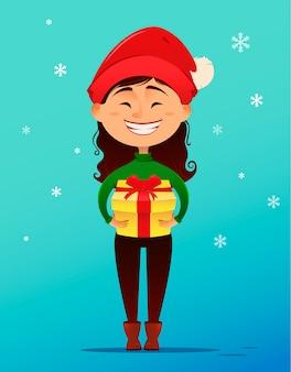 Postkarte der frohen weihnachten und des guten rutsch ins neue jahr