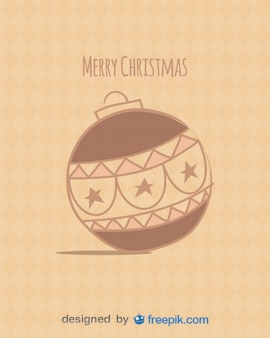 Postkarte frohe weihnachten mit weihnachtskugel