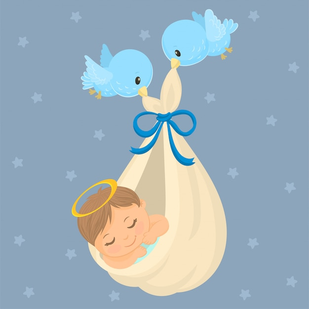 Postkarte für die geburt eines babys