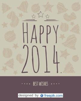 Postkarte glücklich 2014