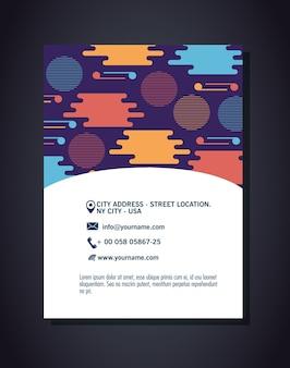Postkarte mit figuren geometrien und farben