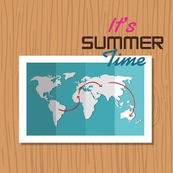 Postkarte sommerferienkarte