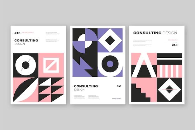 Postmoderne business-cover-sammlung