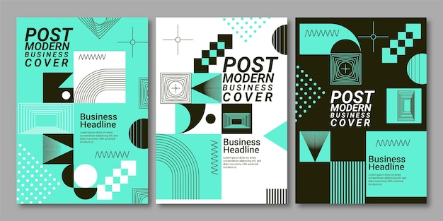Postmoderne business-cover-sammlung