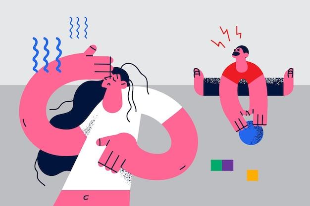 Postpartale depression und müdigkeitskonzept