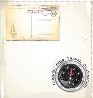 Poststempel-reiseentwurf