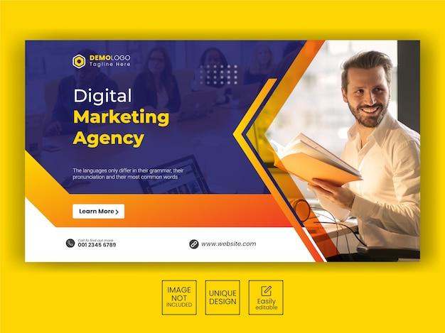 Postvorlage oder flyer-design für social media für digitales marketing