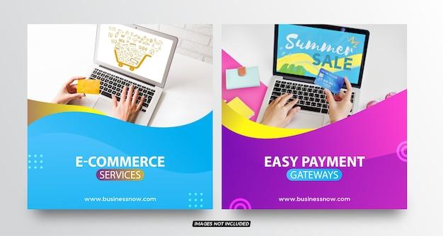 Postvorlagen für e-commerce-social-media-posts