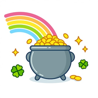 Pot of gold mit regenbogen
