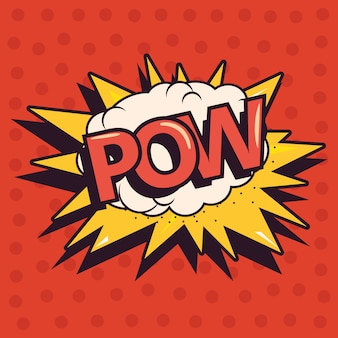 Pow comic explosion pop-art hintergrund
