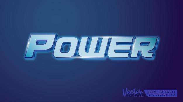 Power 3d bearbeitbare textstileffekt-mockup-vorlage