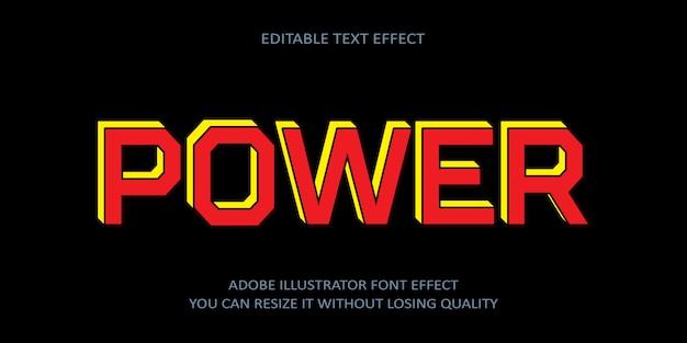 Power editierbarer text schrift effekt
