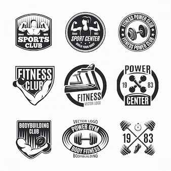 Power fitness logo set