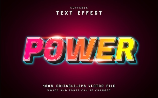 Power-texteffekt mit farbverlauf