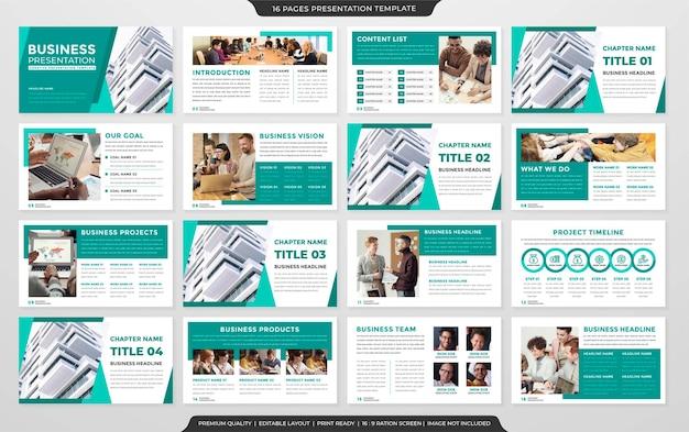 Powerpoint-layout-vorlage im premium-stil