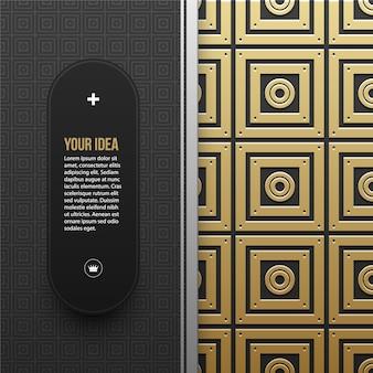 Powerpoint präsentation goldenes design