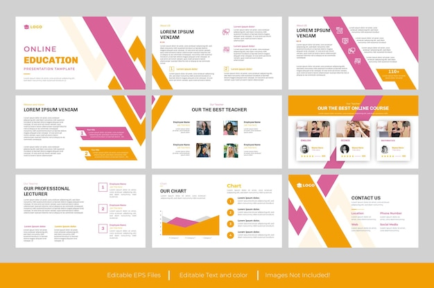 Powerpoint-vorlage für kreative bildung
