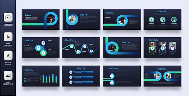 Powerpoint-vorlage für moderne technologieunternehmen