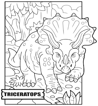 Prähistorische dinosaurier triceratops