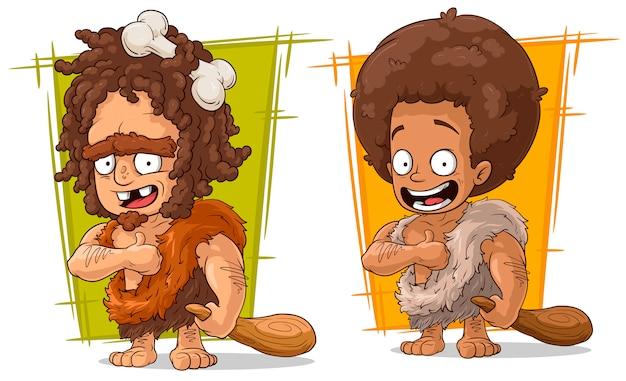 Prähistorische mann zeichentrickfigur