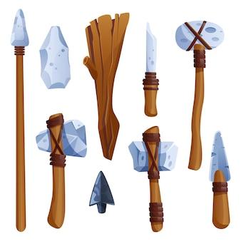 Prähistorische steinzeitwerkzeuge