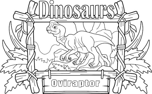 Prähistorischer dinosaurier-oviraptor