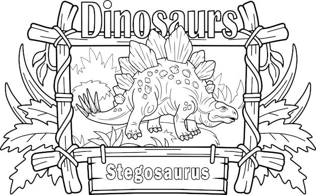 Prähistorischer dinosaurier stegosaurus