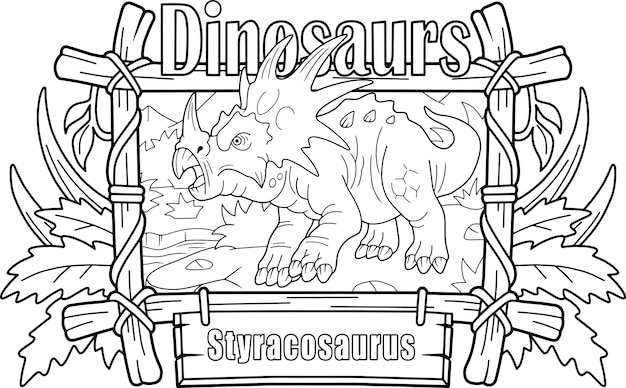 Prähistorischer dinosaurier styracosaurus
