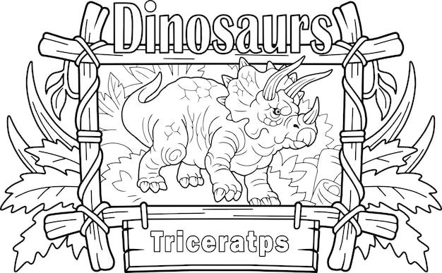 Prähistorischer dinosaurier triceratops