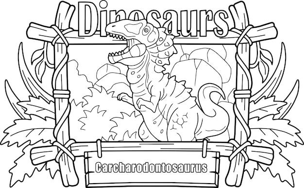Prähistorischer dinosaurier