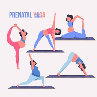 Pränatale yoga-sammlung