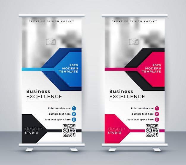 Präsentation aufrollen banner-design
