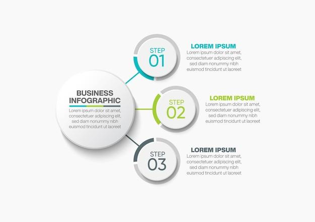 Präsentation business circle infografik vorlage mit optionen
