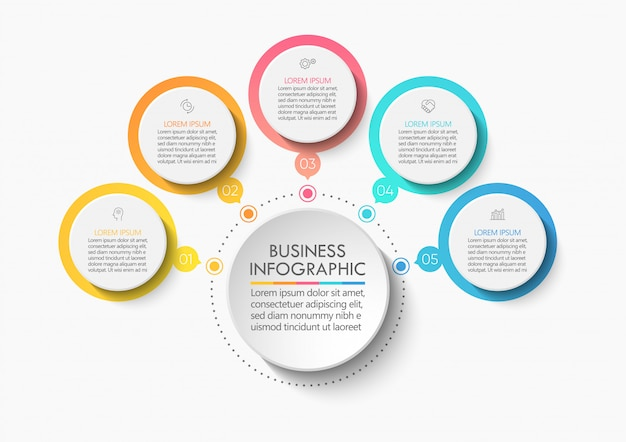 Präsentation business circle infografik vorlage