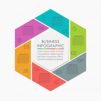 Präsentation business circle infographik vorlage
