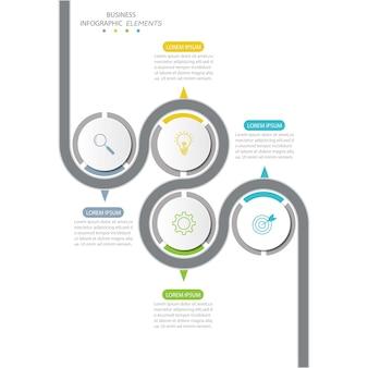 Präsentation business infografiken vorlage mit 4 optionen