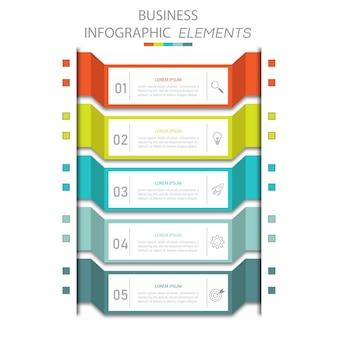 Präsentation business infografiken vorlage mit 5 optionen