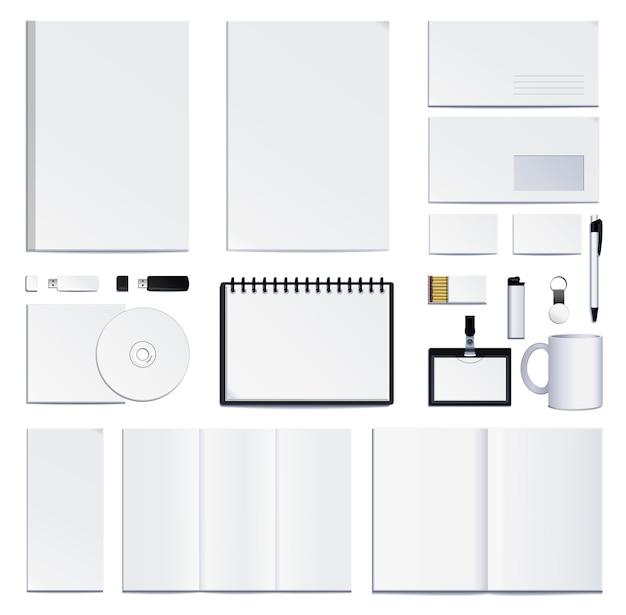 Präsentation der corporate identity. illustration auf weißem hintergrund.