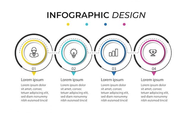 Präsentation der infografik-schritte