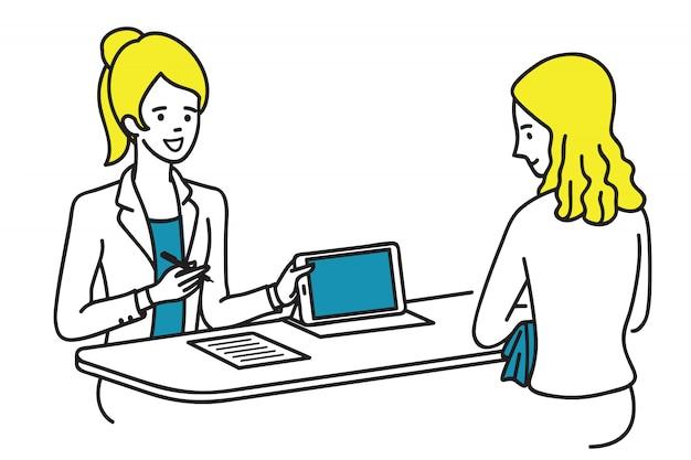 Präsentation der werbung für den kunden