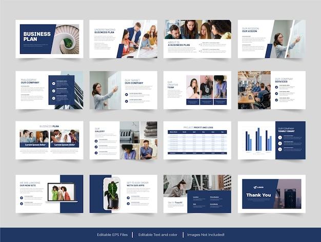 Präsentation des businessplans mit minimalen folien