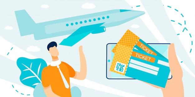 Präsentation des e-ticket-buchungs- und kaufservice