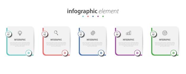 Präsentation des infografik-konzepts