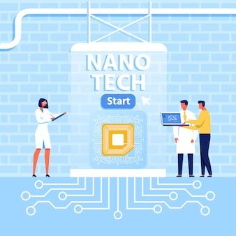 Präsentation für das nano tech center im loft-stil