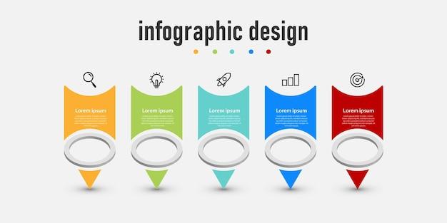 Präsentation geschäft kreative infografiken design pfeil