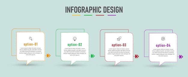 Präsentation infografik design layout mit schritten