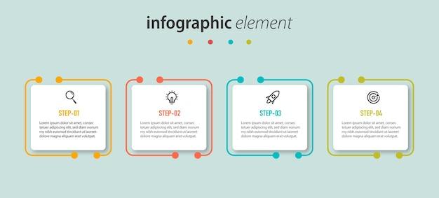 Präsentation infografik-marketing mit erfolgsschritten
