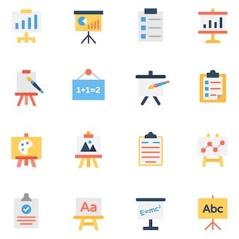 Präsentation und boards icons pack
